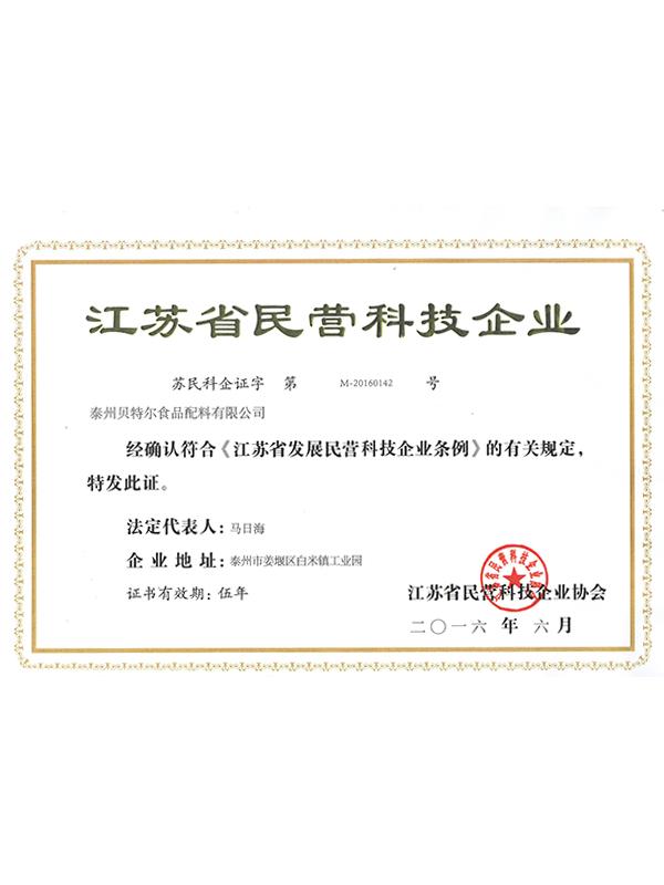 倍特尔江苏省民营科技企业